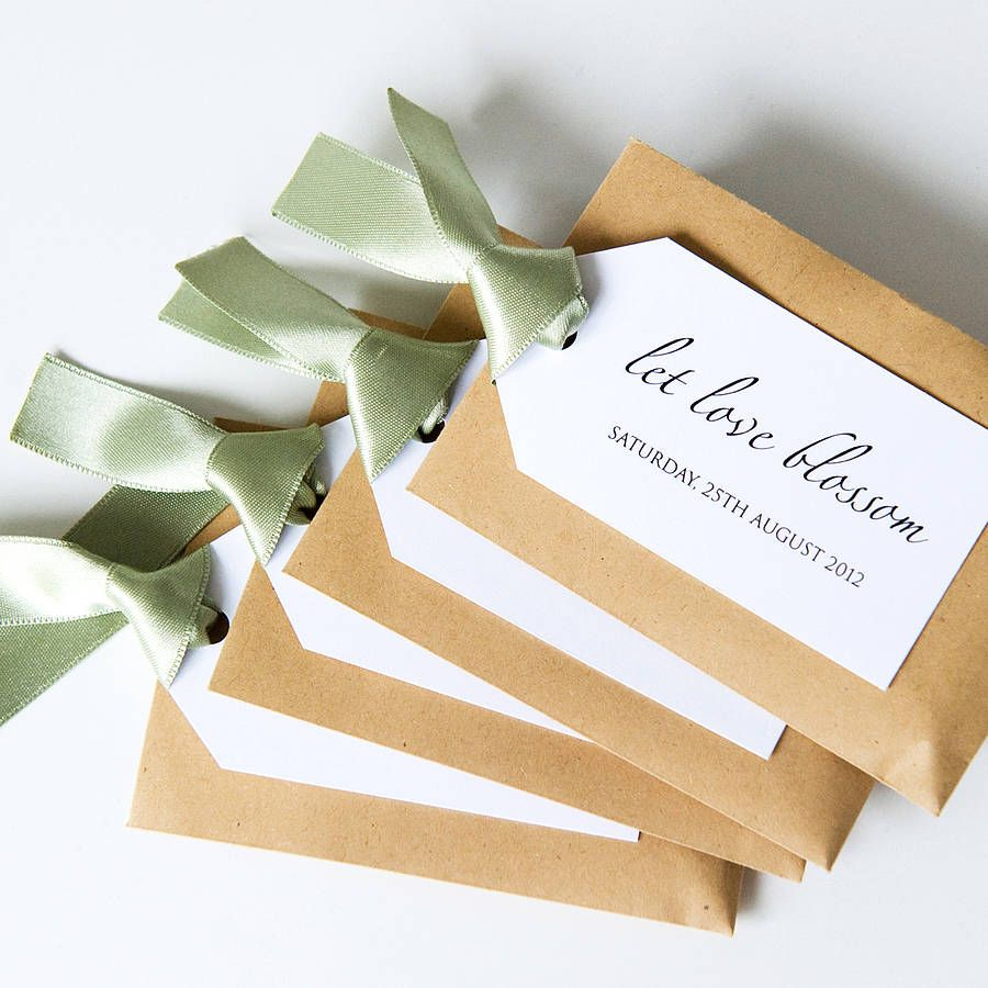 plantable wedding invitations 20 personalised seed packet with tag favours by twenty seven notonthehighstreet com