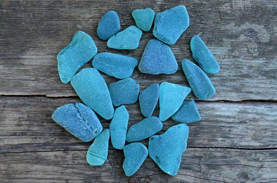 Turquoise Small Sea Glass Bulk Greenish Blue Beach Glass Teal Vase