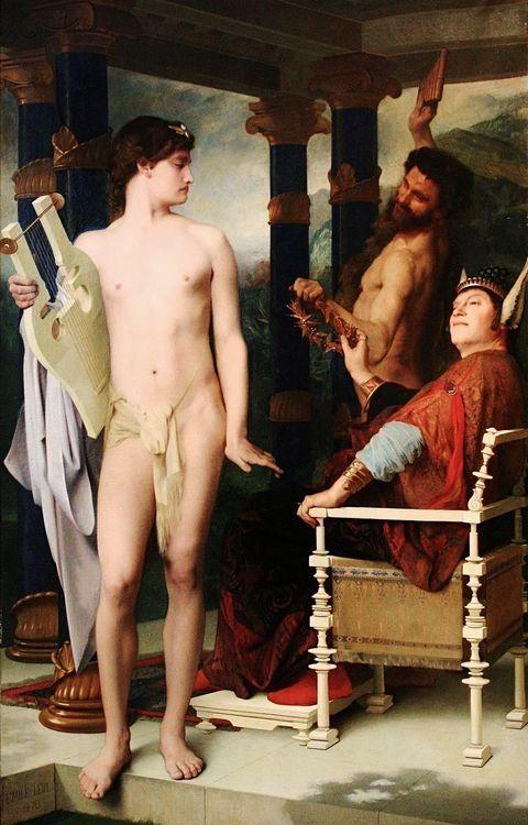 The Judgement of Midas. 1870. Emile Levy.