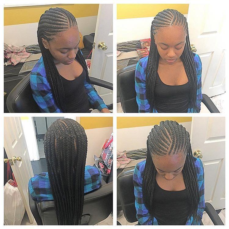 2 Layer Cornrows Dmvbraider Feedingbraids Kidbraider Sidecornrows Salonramseydmv Hair Styles Two Cornrow Braids Braided Hairstyles
