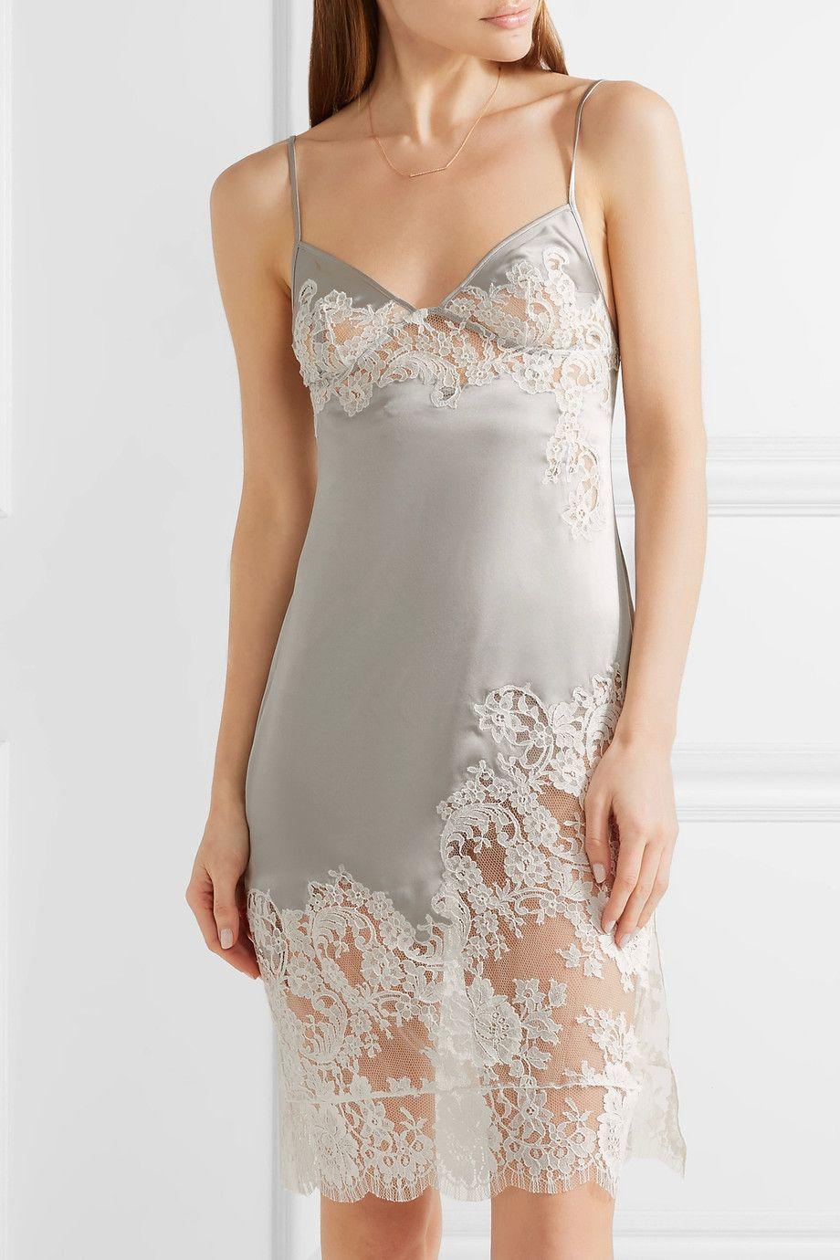 très convoité gamme de remise pour vente styles de mode Agent Provocateur - Nayeli Leavers lace-paneled silk-blend ...