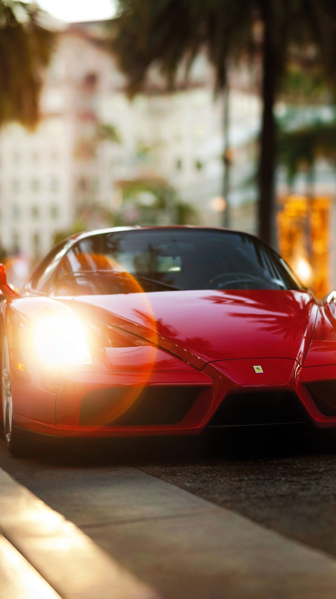Ferrari Enzo Red Side View IPhone 6 Wallpaper