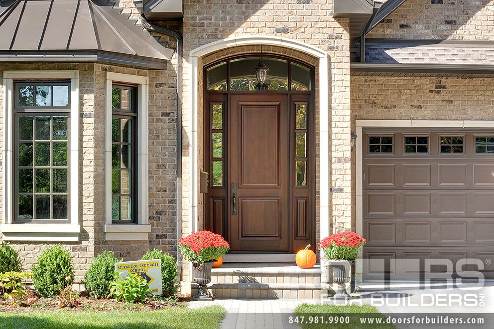 Mahogany Front Door With Glass Custom Wood Front Entry Doors. Custom 2 Panel Solid Mahogany Entry Door  with 2 Sidelites and Transom, Clear Beveled Glass