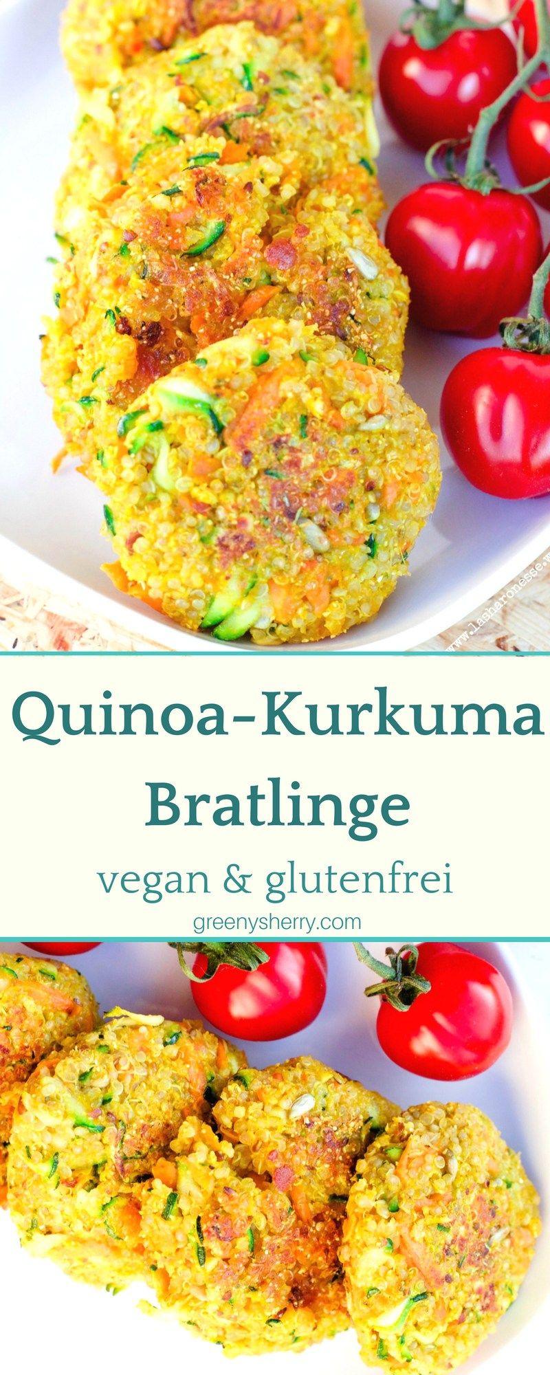 Knusprige QuinoaKurkuma Bratlinge vegan glutenfrei veggie