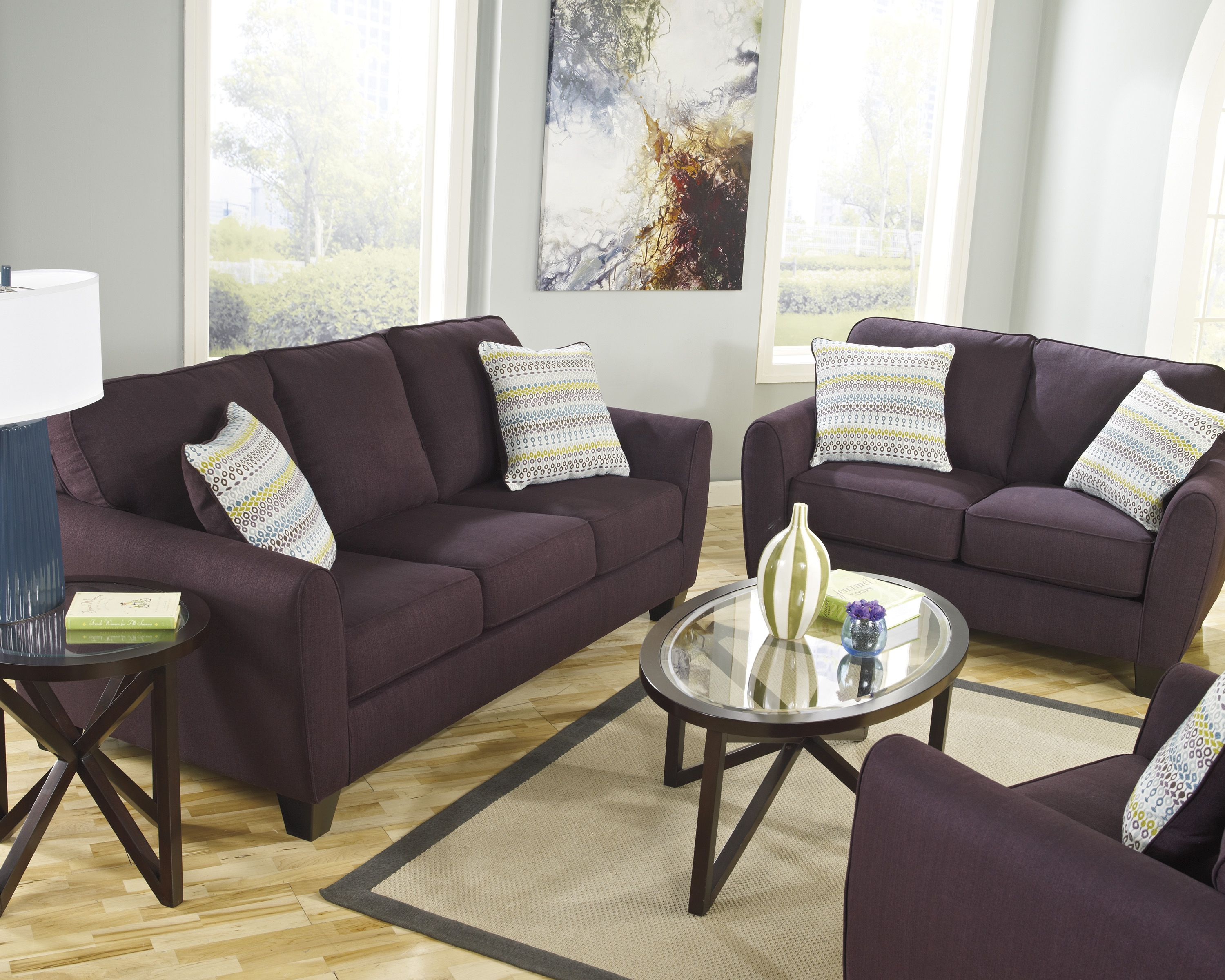 We Think An Eggplant Loveseat Is Just A Darling Addition To Any