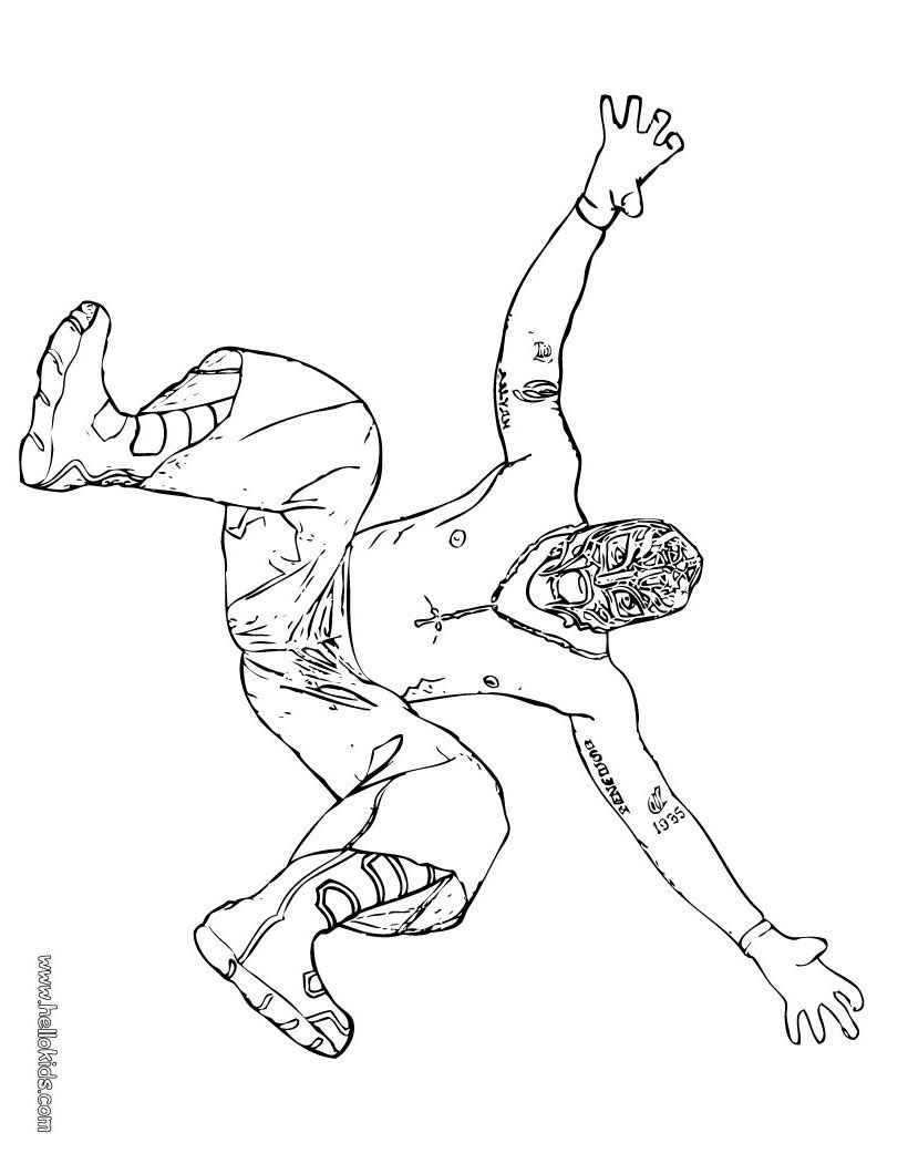 Wrestler Rey Mysterio Coloring Page For Zach Kid Stuff