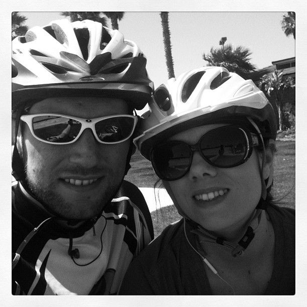 biking with bf is one of the best ways to burn calories