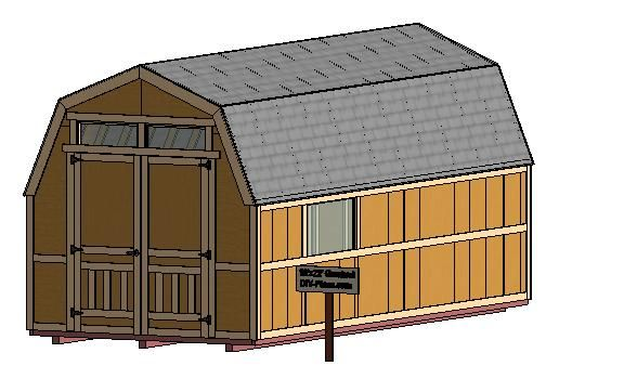10x22 Gambrel Storage Shed Plan Barn Style Shed Shed Shed Floor Plans