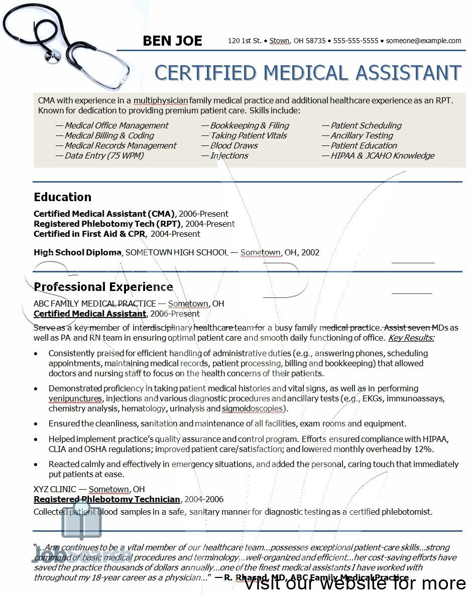 Medical Assistant Student Resume Sample Resume Examples For