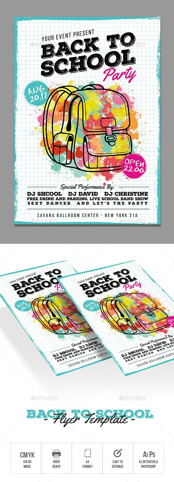 Back To School  Flyer Template Photoshop And Event Flyers