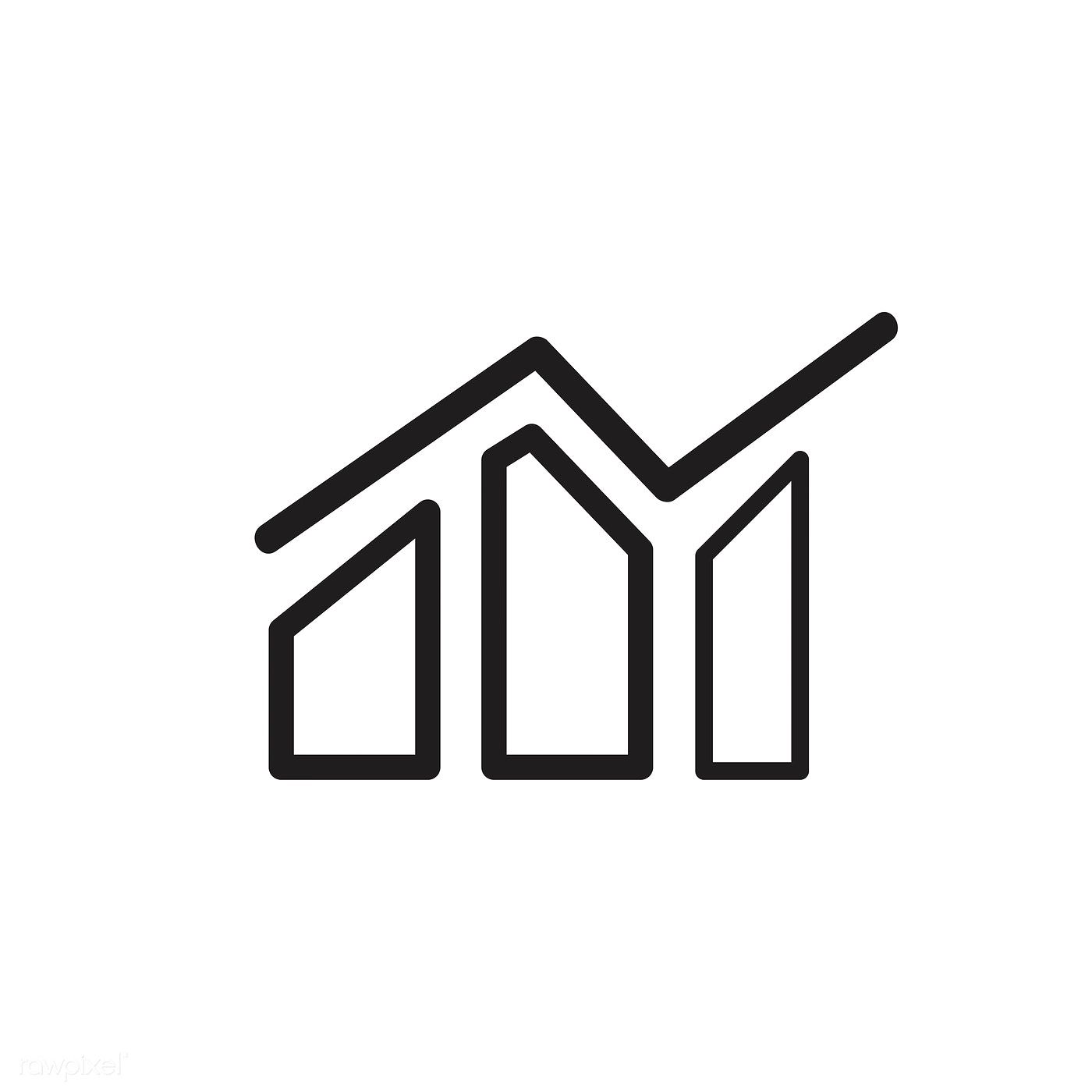Growth Graph Icon Vector Free Image By Rawpixel Com Vector Free Graphing Vector