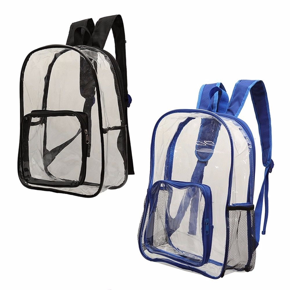 Photo of THINKTHENDO Women Men Transparent PVC Transparent Backpack Travel …