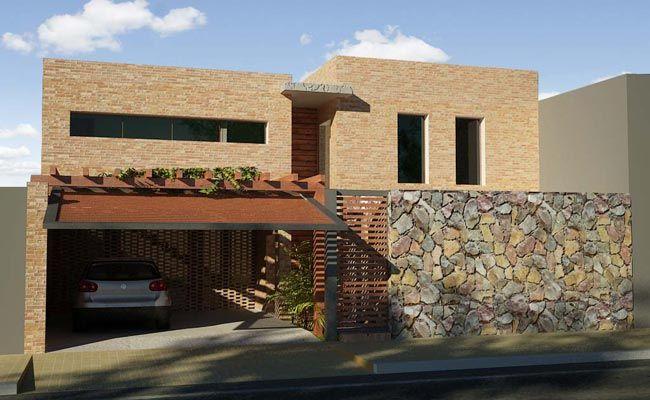 Fachada de casas modernas con porton buscar con google - Casas con chimeneas modernas ...