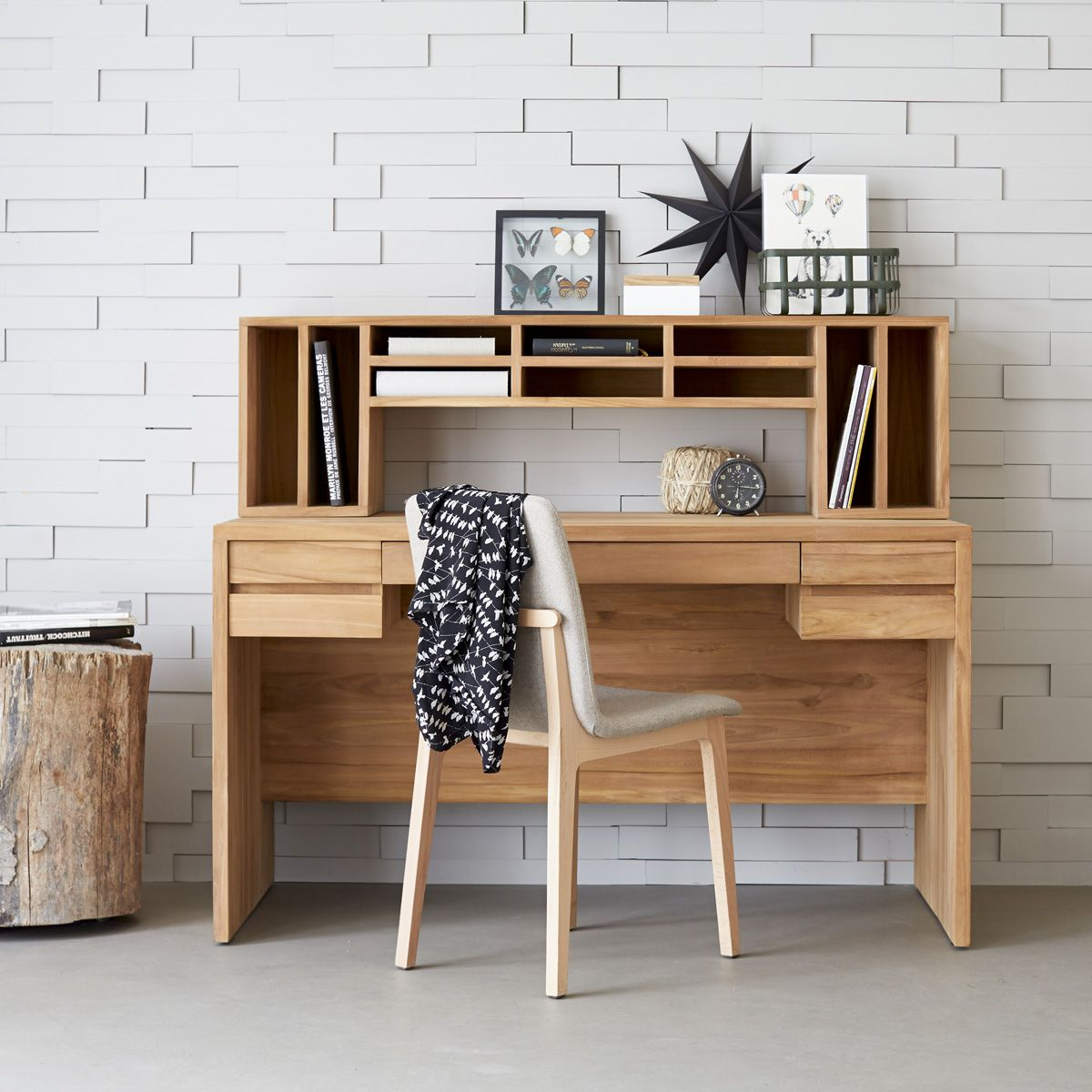 bureau en teck 140 milano pinterest le souci deco bureau et teck. Black Bedroom Furniture Sets. Home Design Ideas