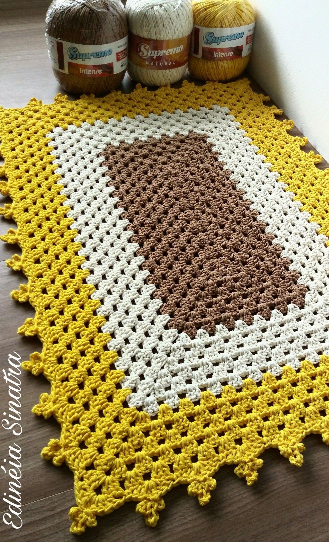Ideia de tapetes croche - Salvabrani | nappe | Crochet ...