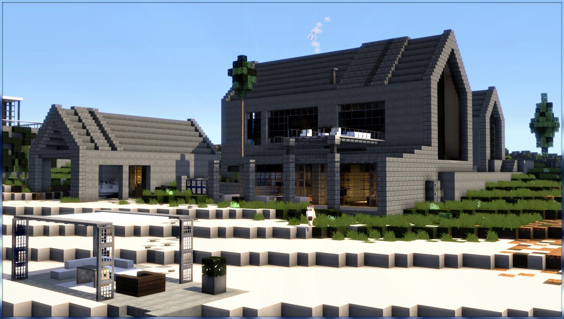 Modern Architecture House Minecraft minecraft: modern barn house conversion #4 | minecraft things