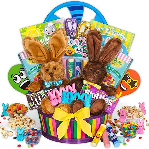 Double bunny easter basket easter sunday gifts baskets deals double bunny easter basket negle Gallery