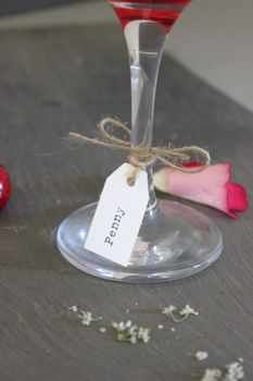 Personalised Wine Glass Name Tags | Wines, Wedding and Reception