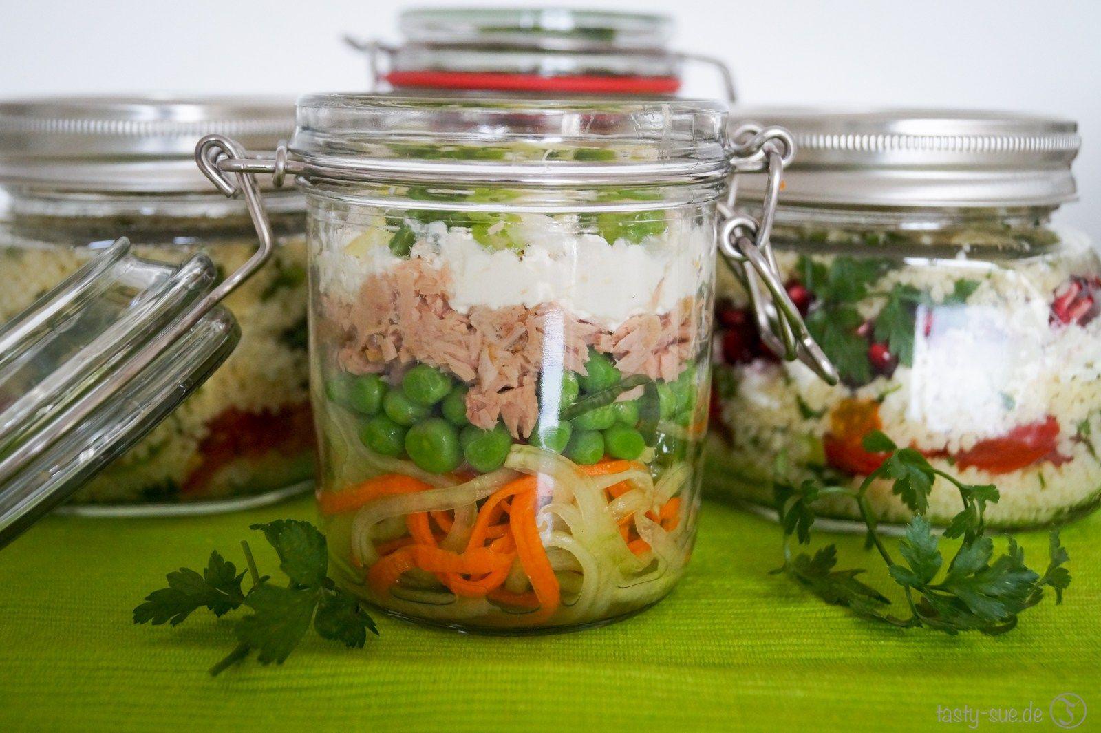 mittagessen im glas lunch to go die zweite salate pinterest mittagessen essen und. Black Bedroom Furniture Sets. Home Design Ideas