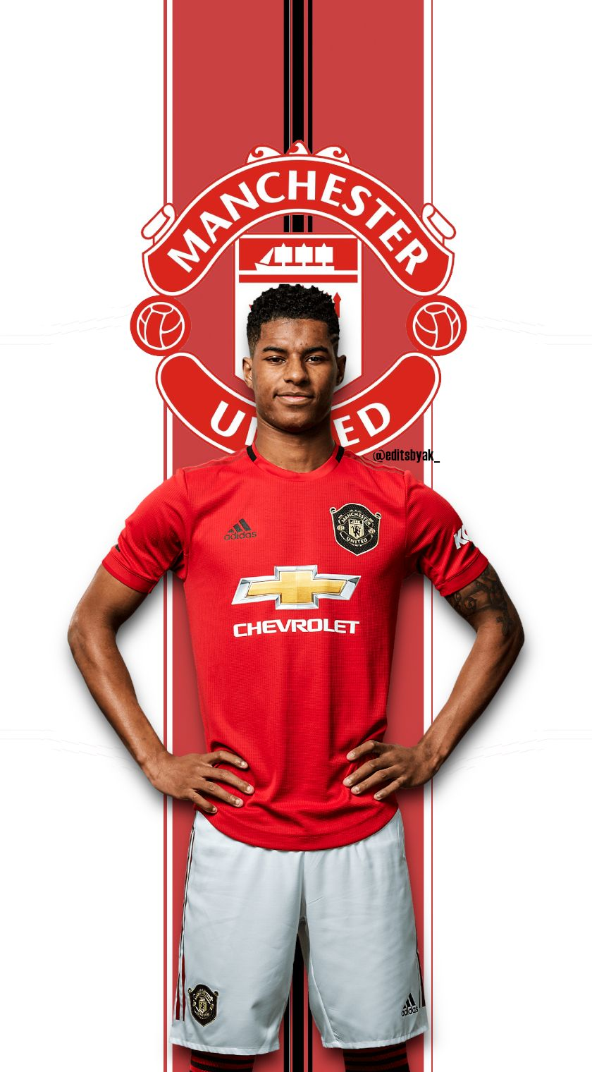Marcus Rashford Manchester United Football Mobile Wallpaper Manchester United Football Marcus Rashford Football Wallpaper