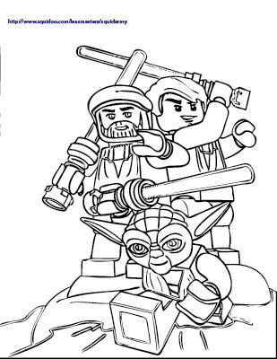 Lego Star Wars Coloring Pages Color Pages Pinterest