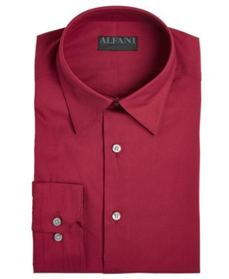 Alfatech By Alfani Men S Solid Athletic Fit Dress Shirt Created For