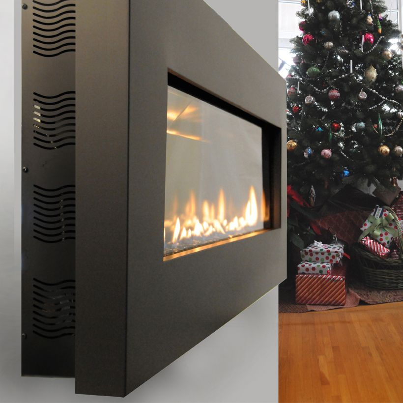 This Slim Fireplace Model Mounted On The Wall Allows For More