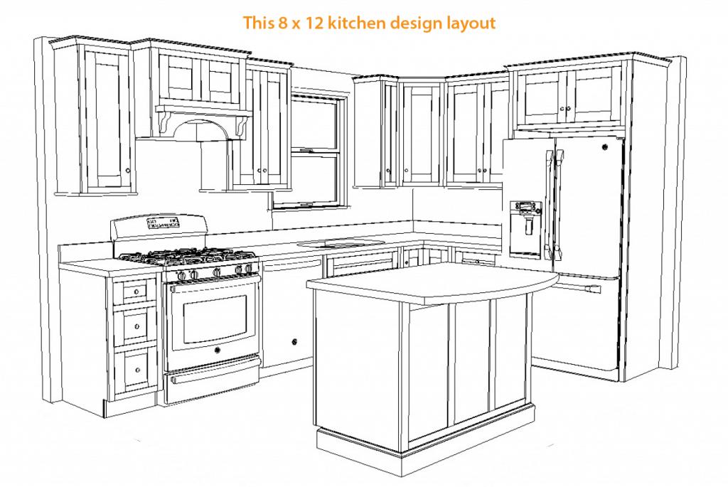 8 By 12 Kitchen Layout Kitchen Designs Layout Kitchen Floor Plans Kitchen Remodel Small