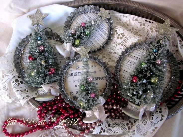 0ad Info Bottle Brush Trees Christmas Crafts Christmas Ornaments
