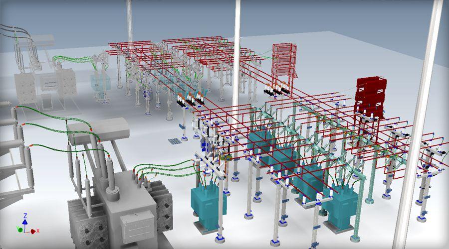3D Substation Design - 3D Substation Modeling - DIS-TRAN