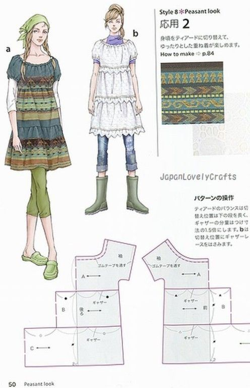 Dress Style Book, Keiko Nonaka, Japanese Sewing Pattern Book for ...