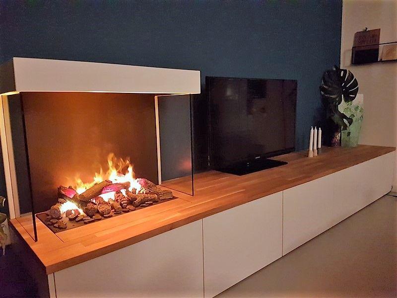 Ikea Zwevende Kast : Tv meubel op basis van ikea besta kasten een eiken blad en een