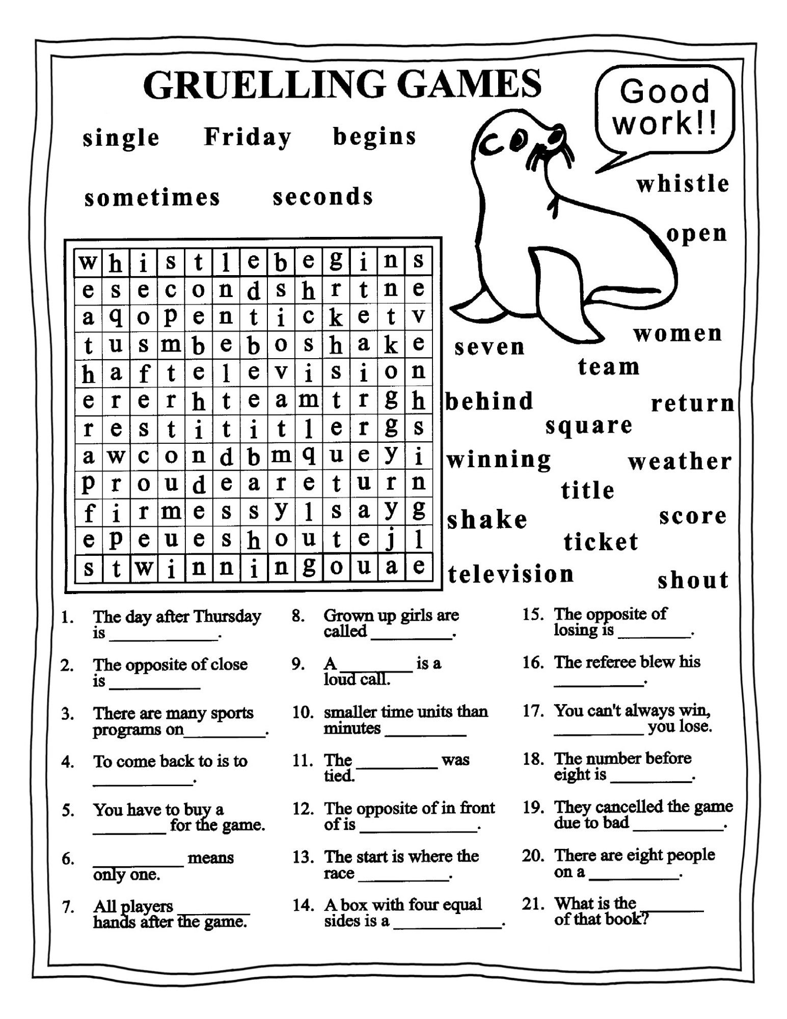 Worksheets For Grade 4 With Images Worksheets Word Search