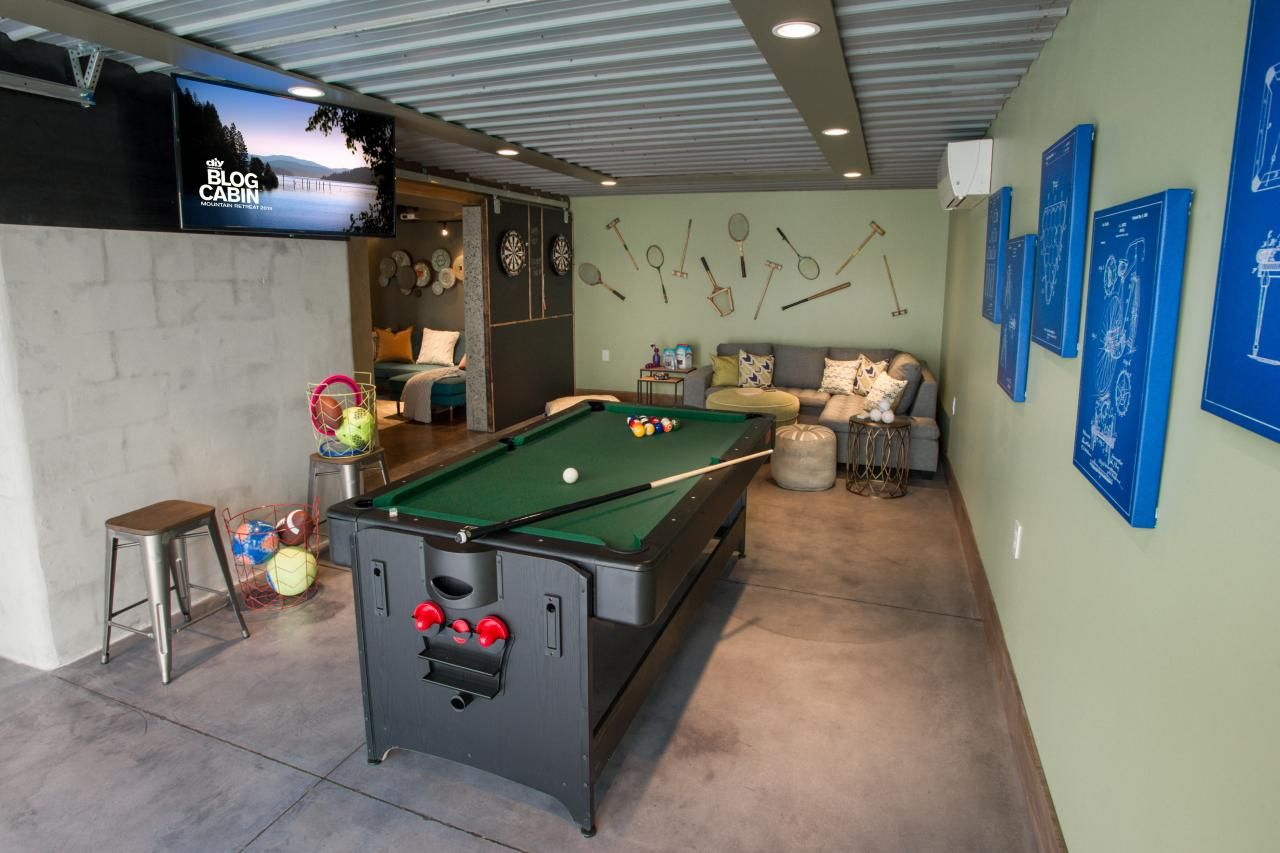 Game Room Pictures From Diy Network Blog Cabin 2015 Garage Game Rooms Game Room Game Room Family