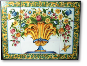 Vaso in ceramica di caltagirone ceramiche artistiche agatino