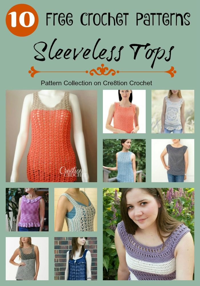 Sleeveless Tops Pattern Collection Crochet Patterns And Collection