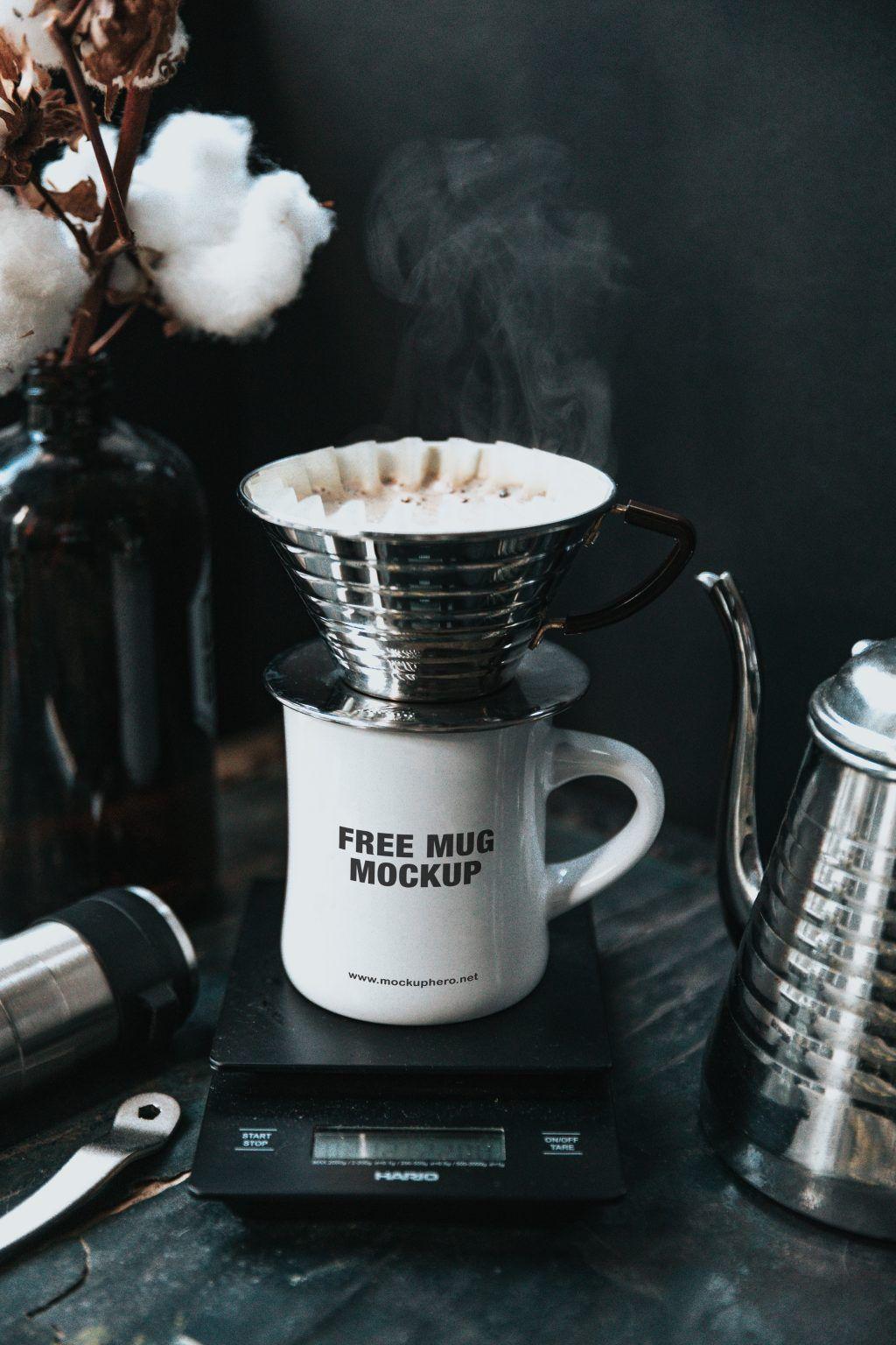 Free coffee mug mockup MockupHero
