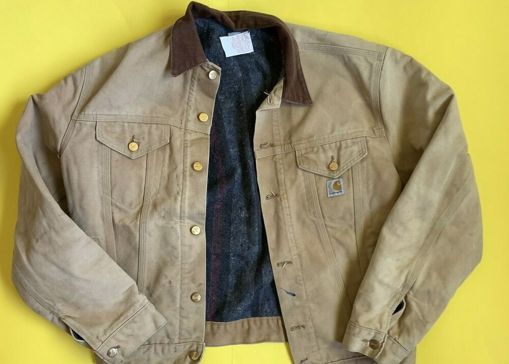 Carhartt Blanket Lined Jacket Vintage Workwear Coat Unionized