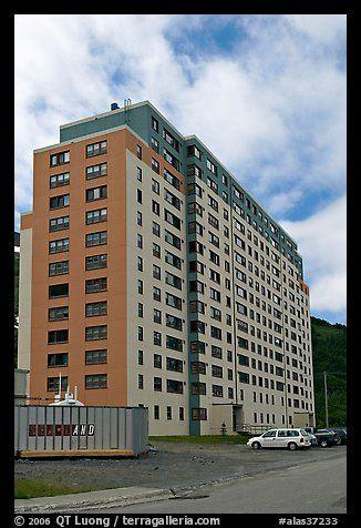 Begich Towers Home To Half Of Whittier Population Whittier Alaska Usa