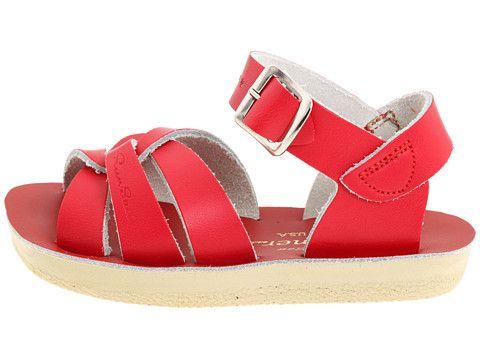 Salt Water sandale par Hoy chaussures Sun Sam surfeur pour filles - rouge - Red LiD7J,