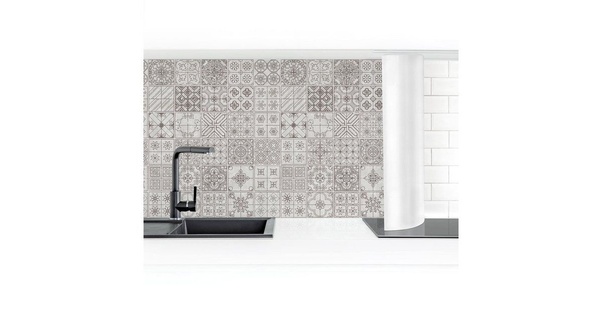 Photo of Imagery Buy kitchen back wall »Tile pattern Coimbra gray« online OTTO