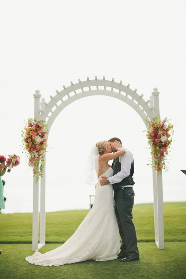 DIY Beach Wedding Saying I Do Overlooking The Ocean At Half Moon Bay Golf
