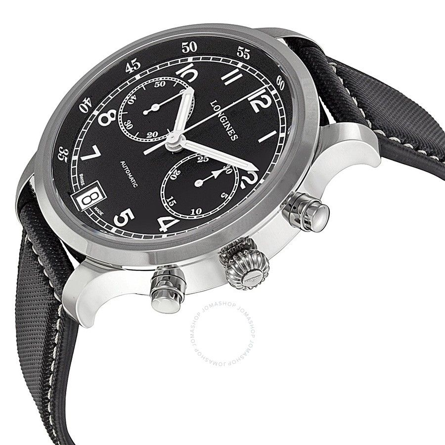 efaad81bc Longines Heritage Military 1938 Chronograph Black Dial Men's Watch  L27904530 - Heritage - Longines - Watches - Jomashop