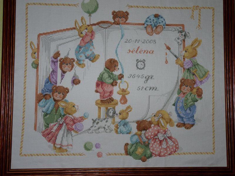 tableau de naissance #2 | Point de croix, Croix, Couverture bébé tricot