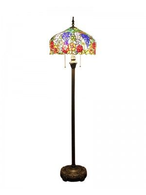 "Tiffany Floor Lamp Unique 16"" Colorful Victorian Tiffany Floor Lamp  Light Switch Decorating Design"