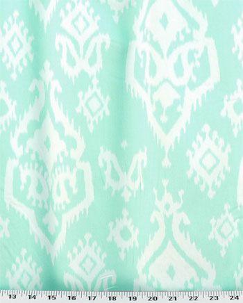 Remnant Raji Mint Twill Drapery Fabric Fabric Cotton Twill