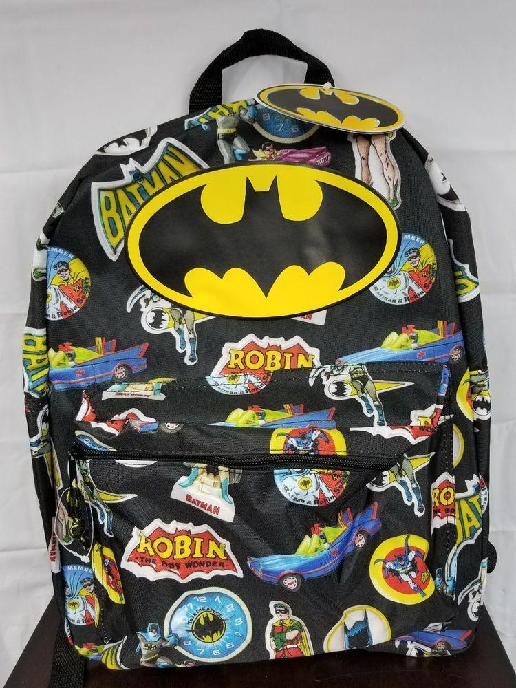 fba015f5629c Batman Backpack Kids DC Comics Boys School Back Pack 18 inch Characters   Marvel  Backpack