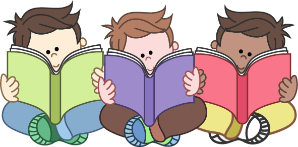 Image result for clipart children reading