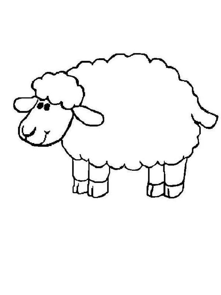Sheep Coloring Pages For Toddlers Sheep Is One Of The Ruminants As A Source Of Animal Protein Th Coloring Pages Animal Coloring Pages Shape Tracing Worksheets