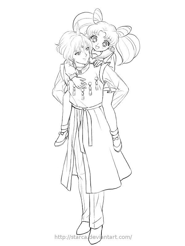 Commission:Helios and Chibiusa by starca on DeviantArt